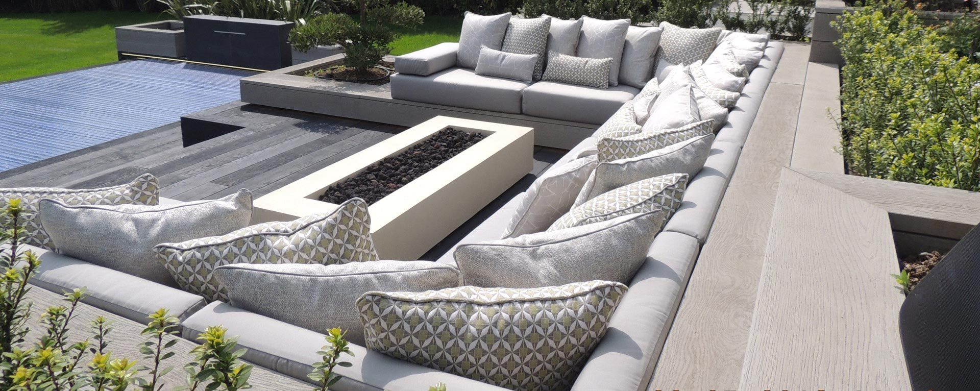 Bespoke waterproof and water repellent Outdoor Cushions