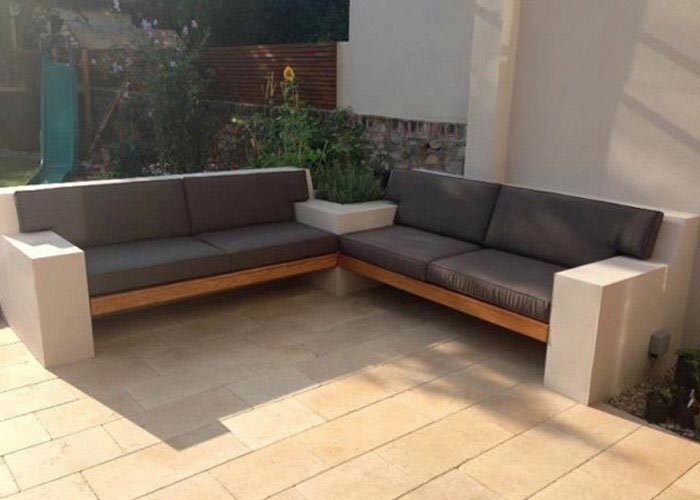 Outdoor cushions made to fit around armrests